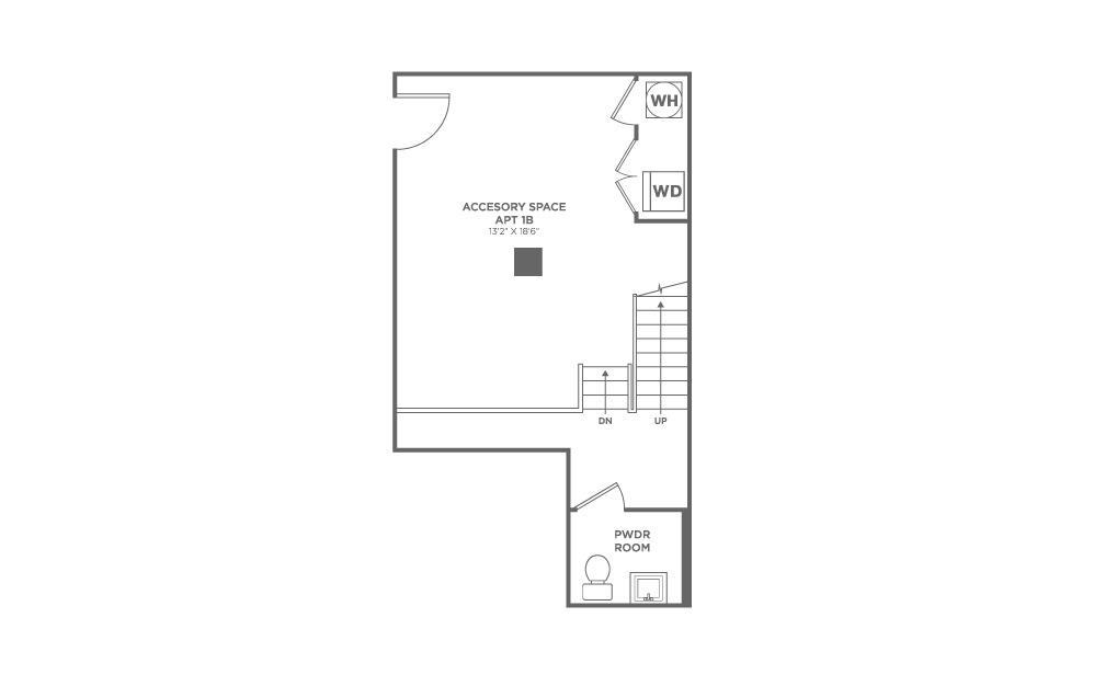 Studio 1.5 baths 1264 sq.ft.