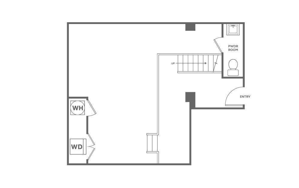 2 bedroom 2.5 bath 1443 sq.ft.